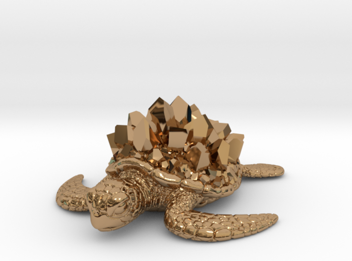 Crystal Turtle 3d printed