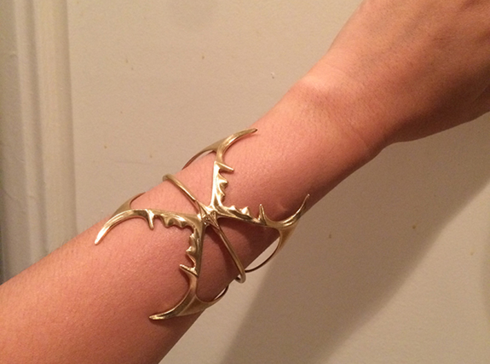 Double Stag Bangle 3d printed