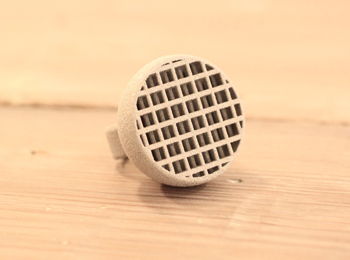 Maze-ring 3d printed