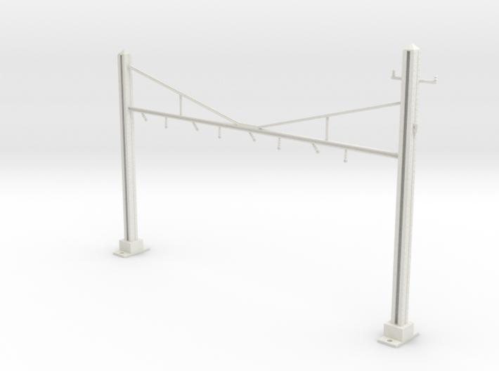 HO Scale PRR K Braced 4 Track Y BRACKET 3d printed
