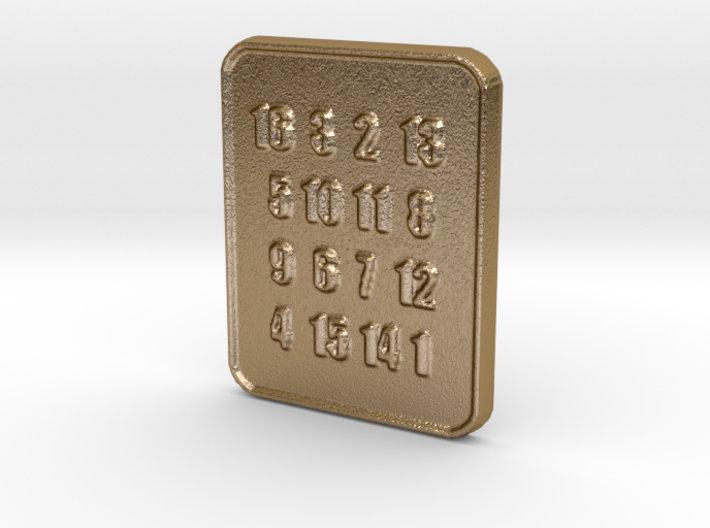 The Oracle's Seer Square Pendant for Lottery 3d printed