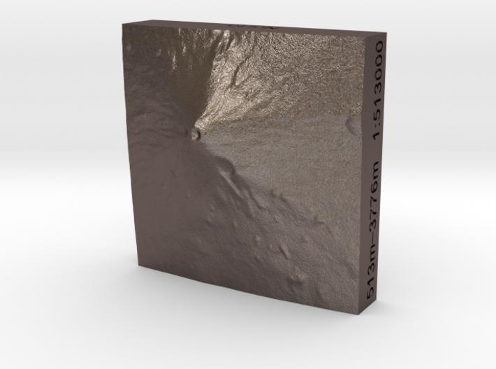 1''/3cm Mt. Fuji, Japan, Steel 3d printed