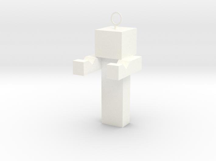 Minecraft Inspired Phone Standkey Chain 3d printed