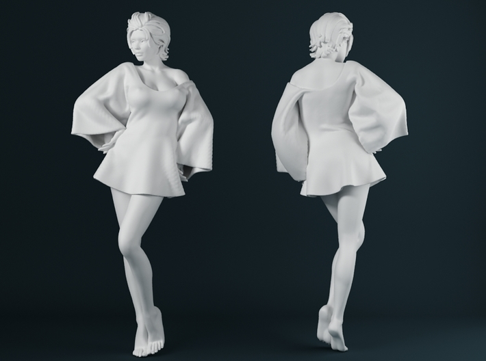 Skirt Girl-005 scale 1/24 3d printed