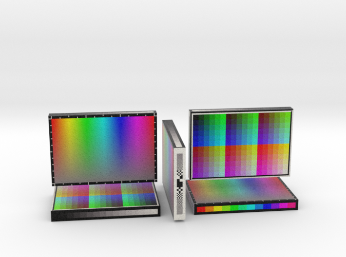 Render 5 in 1 Sandstone Color Chart Sample 3d printed
