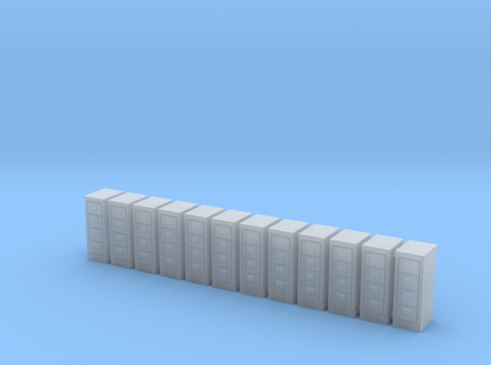 Filing Cabinet 01. HO Scale (1:87) 3d printed
