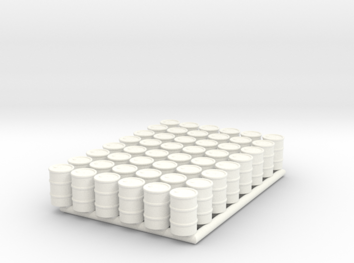 Barrel 01. HO Scale (1:87) 3d printed