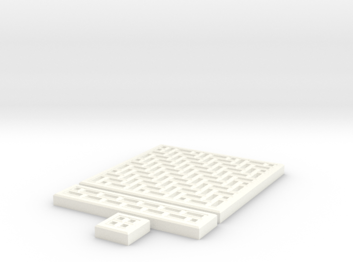 SciFi Tile 16 - HerringBone walkway 3d printed