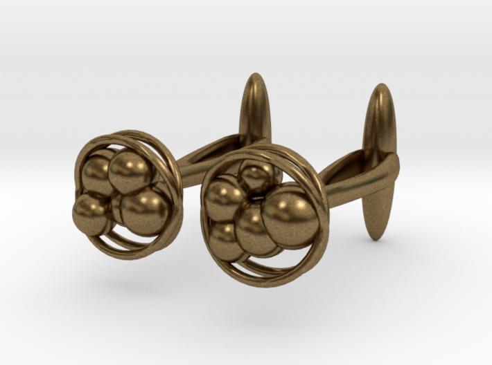 Bacteria Cufflinks - Plasticicumulans 3d printed