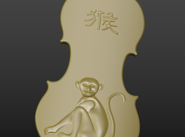 Year of monkey 3d printed