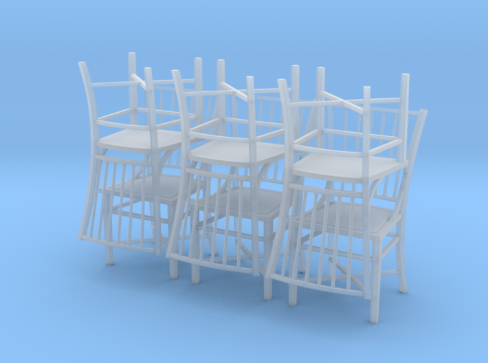 1:48 French Country Chair Set 3d printed