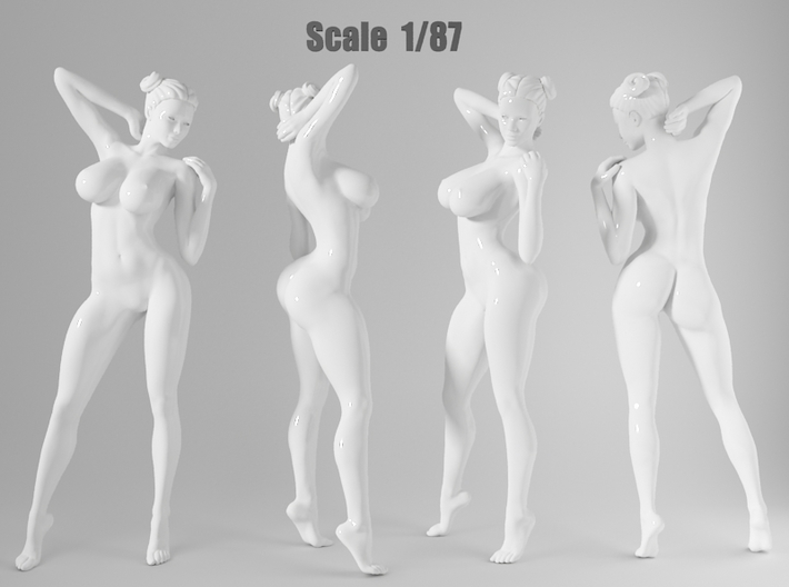 1:87 Sexy little girl in 2cm-001 3d printed