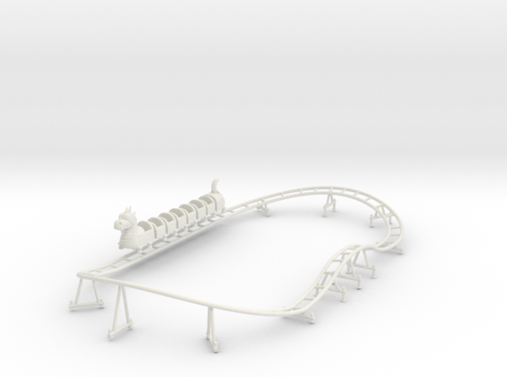 Wisdom Dragon Wagon kiddie coaster track and train 3d printed