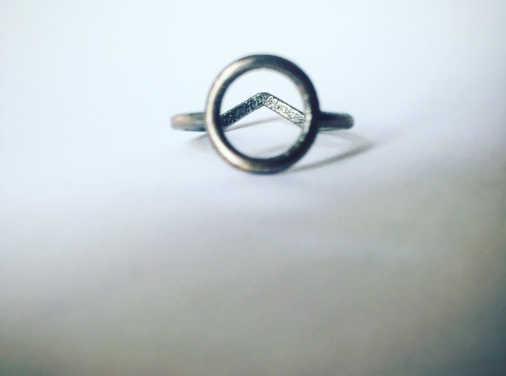 Two sides Ring Size M / 6 (Medium) 3d printed