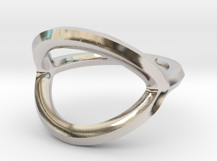 Arched Eye Ring Size 12.5 3d printed