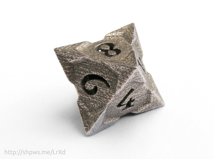 'Starry' D8 balanced die 3d printed