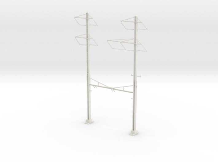 PRR CATENARY HO SCALE 2TRK CURVED STEADY 2-3PH 3d printed