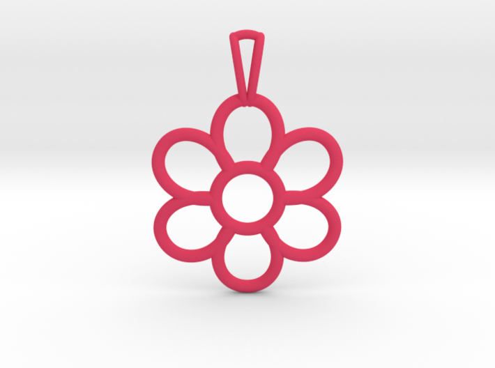 Share Your Smile With Me Sunflower Pendant (Small) 3d printed