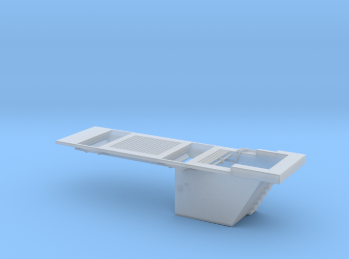 S Double Track Conveyer Pit W Grates 3d printed