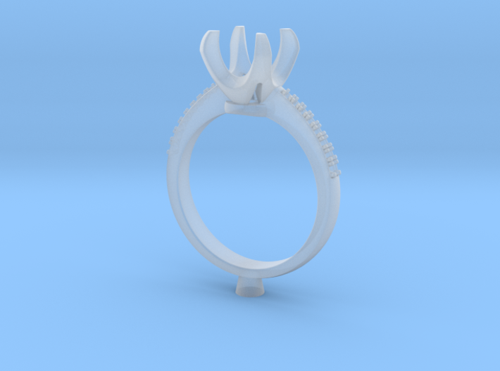 CC5 - Engagement Ring 3D Printed Wax. 3d printed