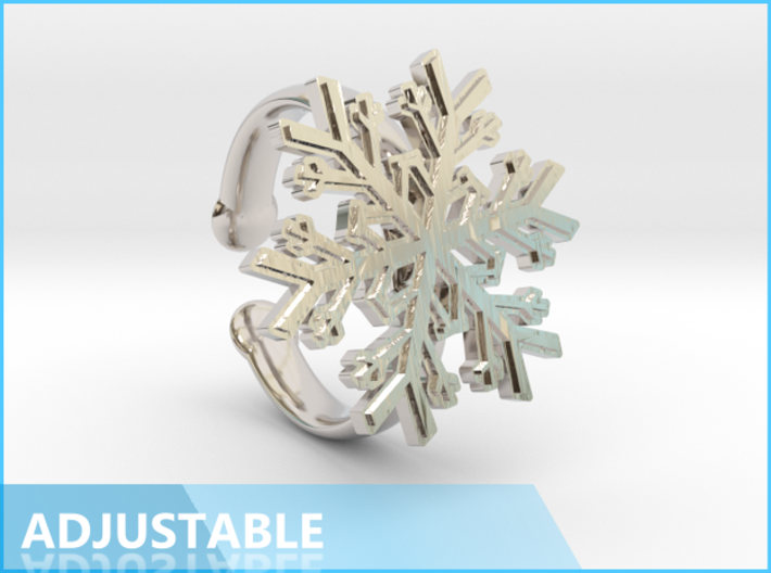 Snowflake Ring 1 d=16.5mm Adjustable h35d165a 3d printed