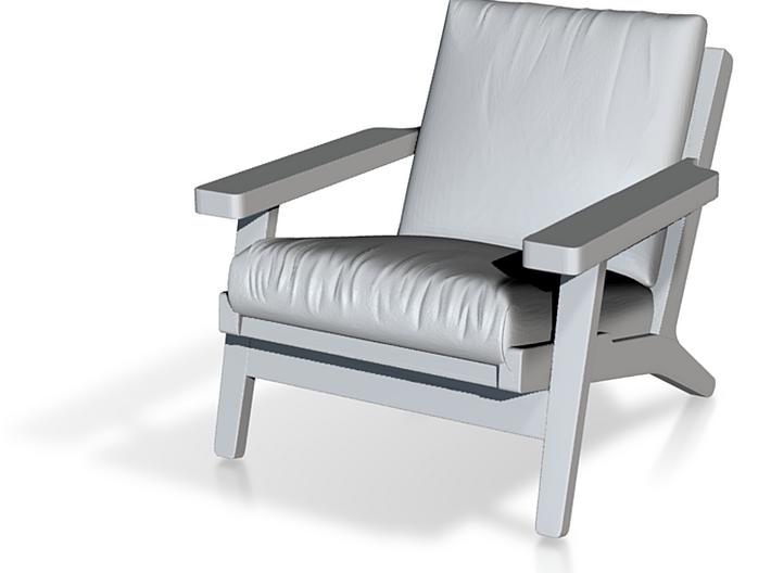 1:48 Wegner Lounge Chair 3d printed