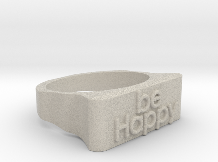 Be Happy Ring size 18,5mm 3d printed