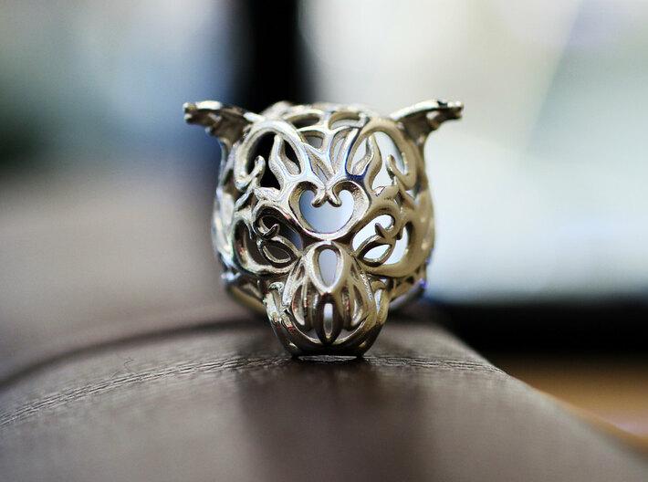 Zodiac Tiger Ring - Silver Tiger Ring, Size 6.5 3d printed 3D printing jewelry - Zodiac Tiger Ring - Vulcan Jewelry