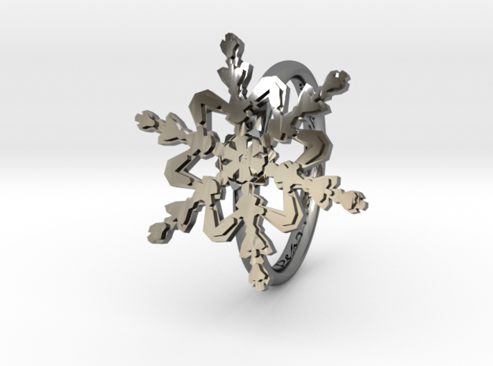 Snowflake Ring 2 d=16mm h21d16 3d printed