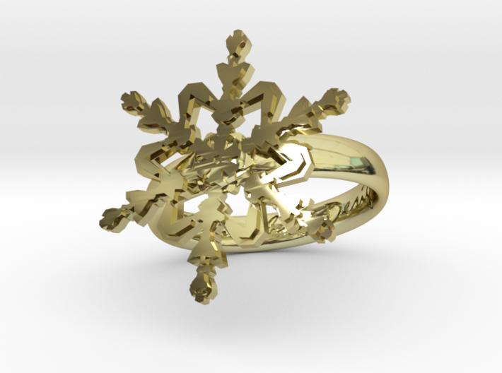 Snowflake Ring 2 d=17mm h35d17 3d printed