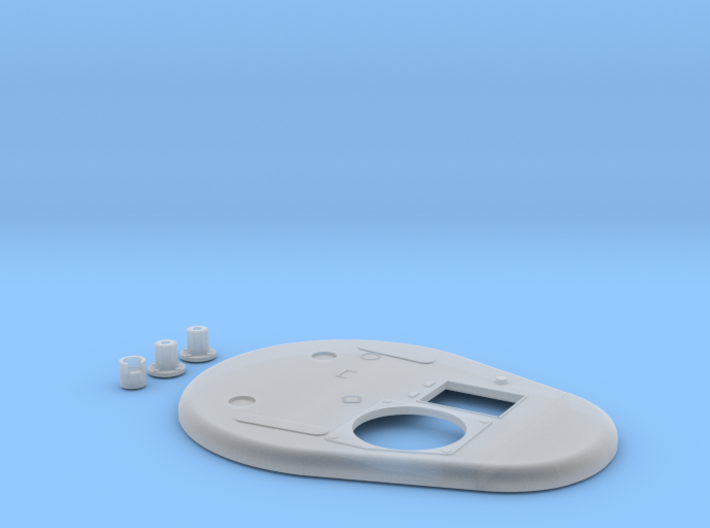 T-28/ T-35 P-40AA hatch turret roof without star 3d printed