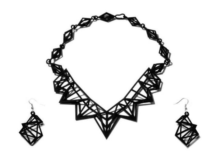 FutureChique Necklace 3d printed FutureChique Necklace + Geo Lux Earrings - BS&F