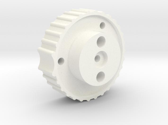 Antenna Elev. knob for 1/4 shaft, bottom part 3d printed