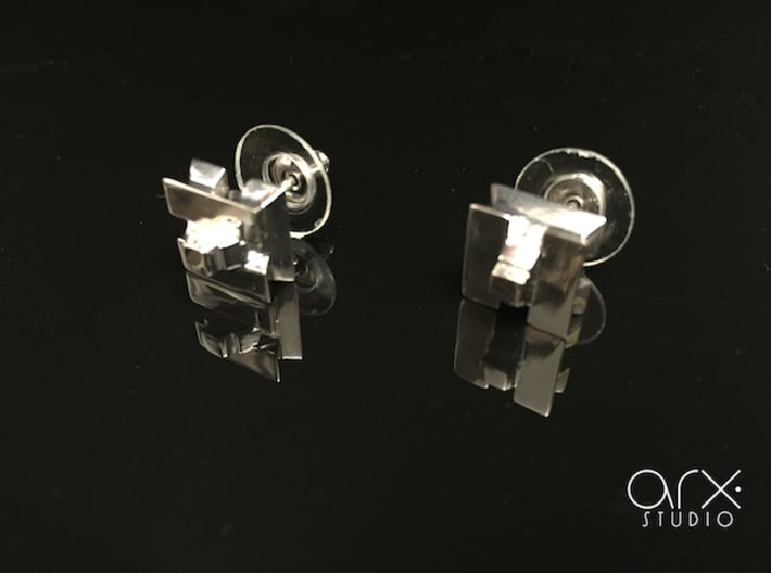 AH Earrings 3d printed Photo by ARX Studio