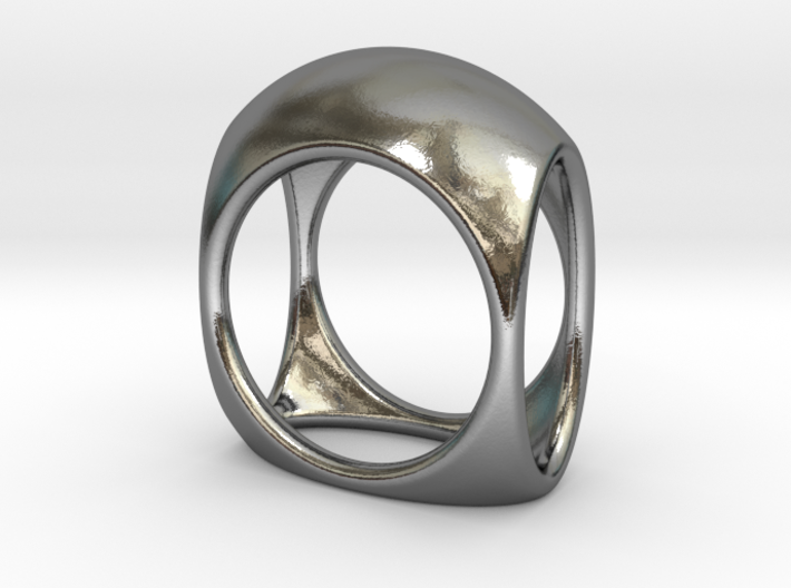 Square Ring model B - size 10 3d printed