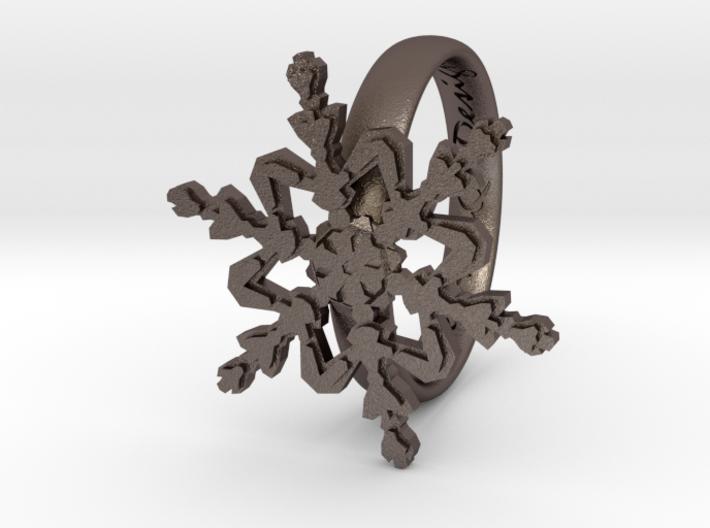 Snowflake Ring 2 d=18mm h35d18 3d printed
