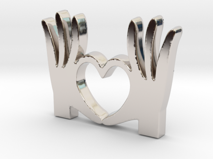 I Love You Pendant - Amour Collection 3d printed