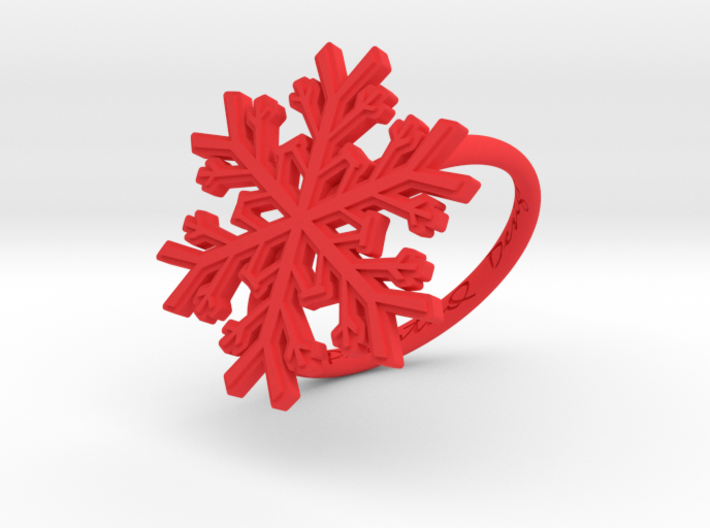 Snowflake Ring 1 d=18mm h21d18 3d printed
