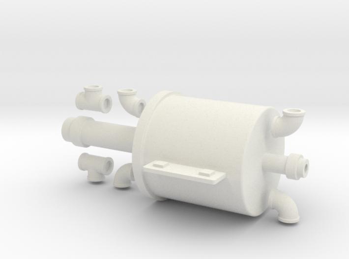 7-8n2 B&SR Vacuum Cylinder w/fittings 3d printed
