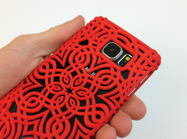 Lotus Art case for Galaxy S6 3d printed