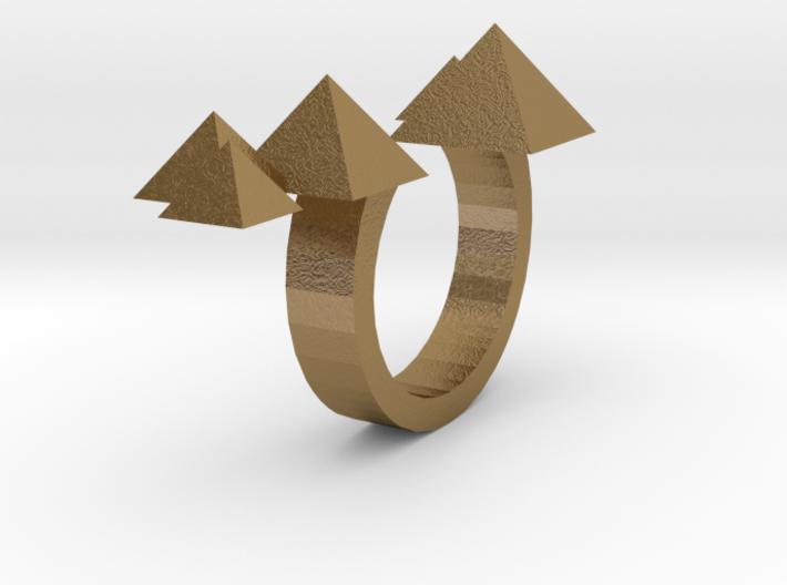 Pyramid Ring Size 7 3d printed