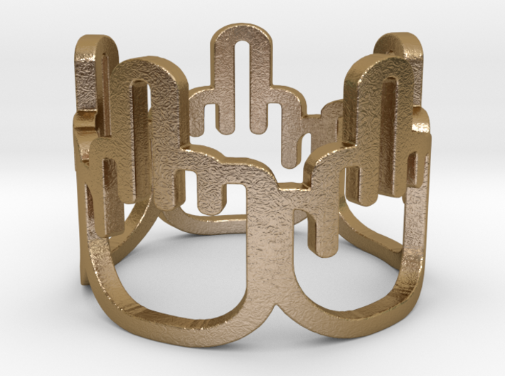 Middle Finger Ring Size 8.5 3d printed