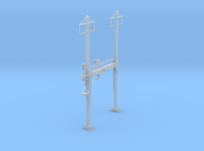 CATENARY PRR BEAM SIG 2 TRACK 2PHASE N SCALE 3d printed