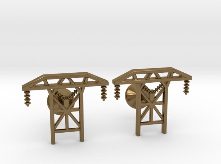 Power Tower Cufflinks 3d printed