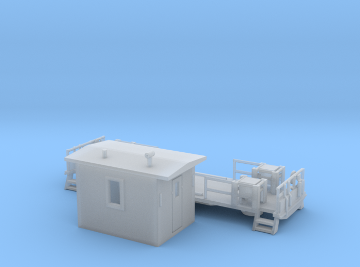 Transfer Caboose 2 3d printed Transfer Caboose two piece Z scale