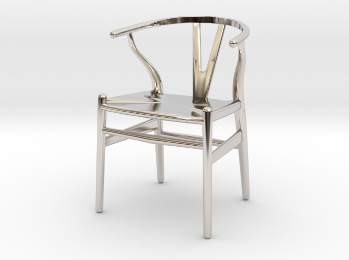 Wishbone style chair 1/12 scale 3d printed