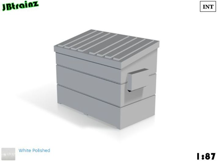 Dumpster small (1:87) 3d printed