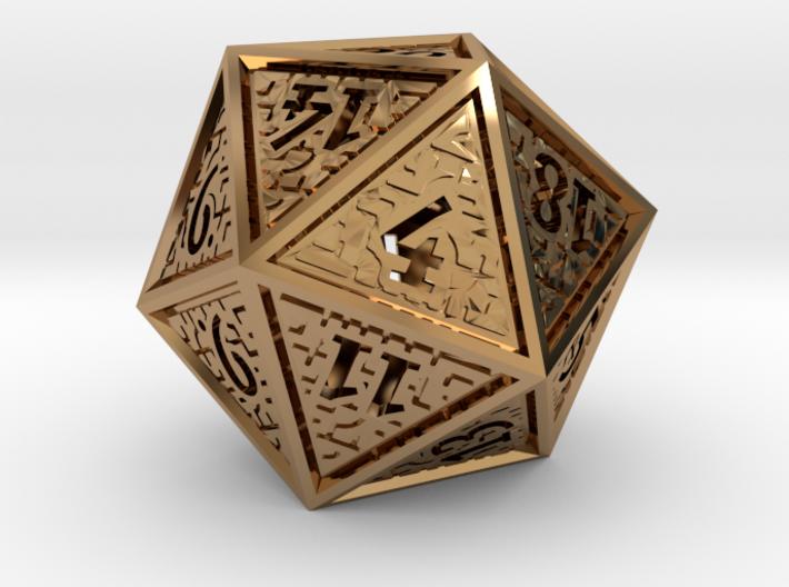 Hedron D20 (Hollow), balanced gaming die 3d printed
