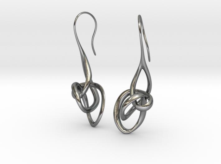 Treble Clef Earrings 3d printed