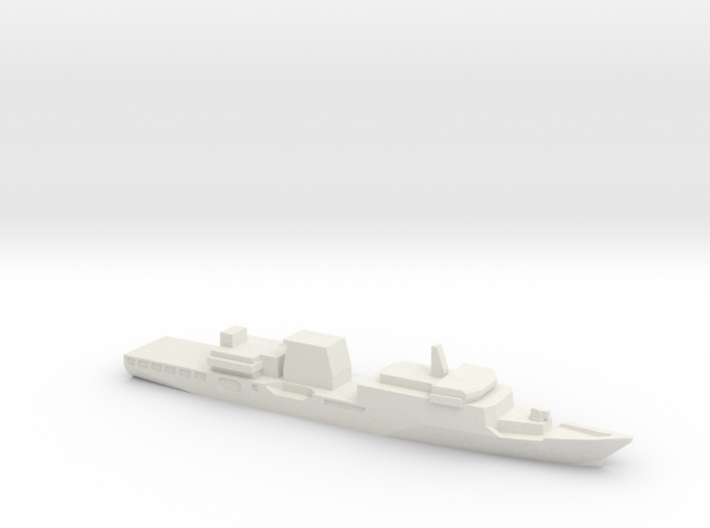 Haijing/CCG-2901 Patrol Ship w/ Barrels, 1/3000 3d printed